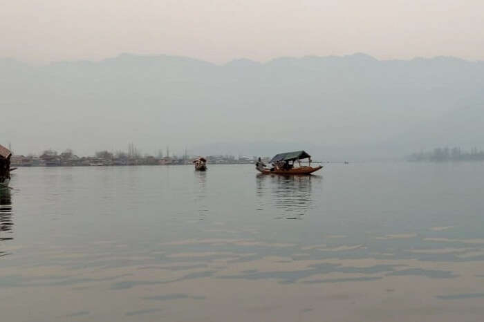 the famous Shikara Ride in Dal Lake
