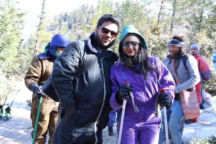 at Gulaba we enjoyed skiing