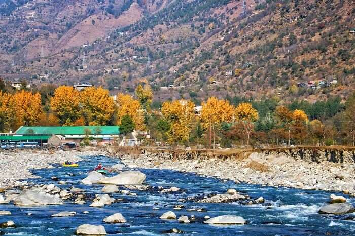 beautiful view of the river and valley