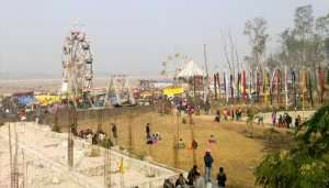 people hanging around in a fair