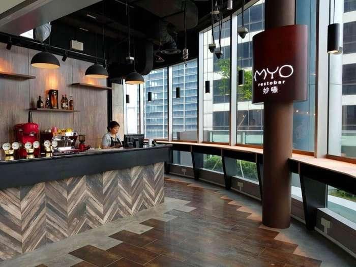 view of bar at myo restaurant