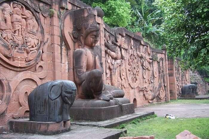 sculpture art, garden art, and religious art