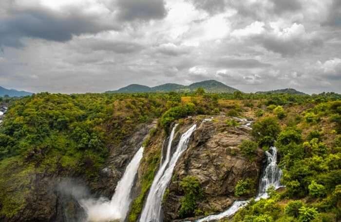 Shivanasamudra Falls In Karnataka