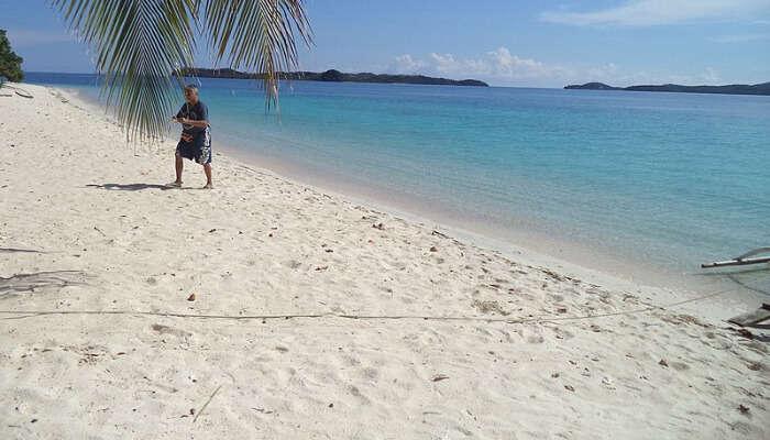 A White Beach