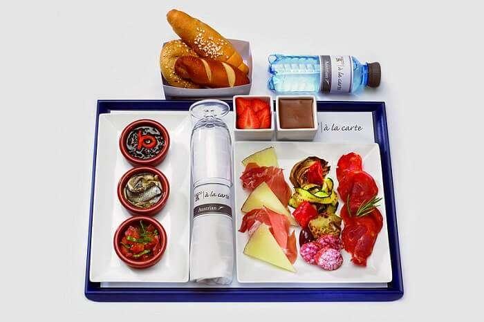 food on airplane