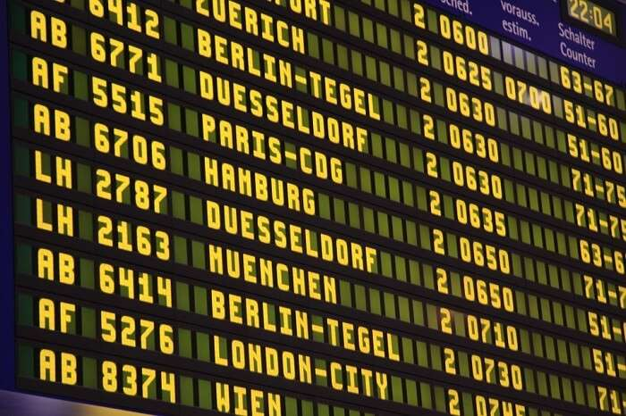 timetable airlines