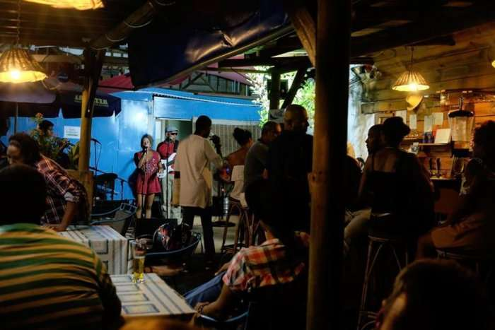 garden bar in port louis