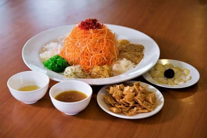 delicious cuisines in lai huat on the table
