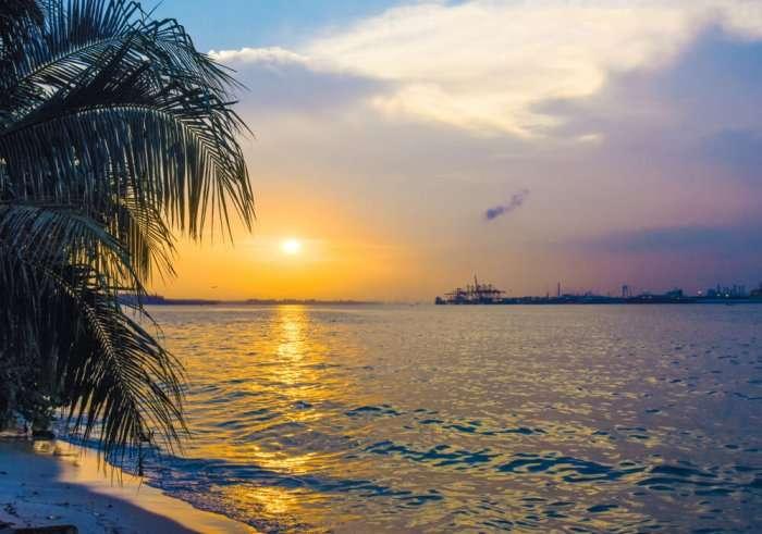 beautiful sunrise in punggol