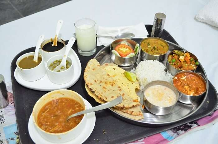 north indian food in thali