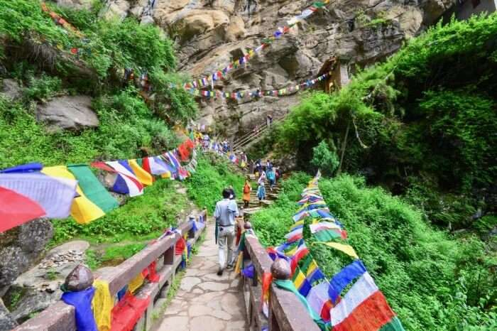 Monastery is by trekking uphill
