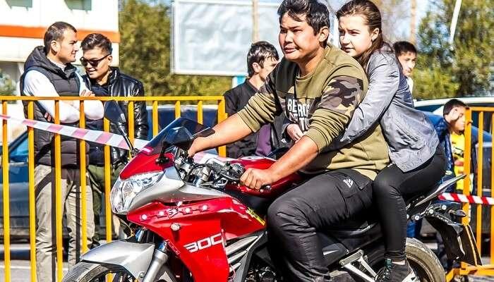 Biker day celebration Kazakhstan