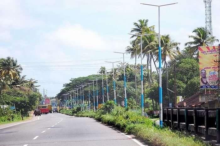 road in Kerala