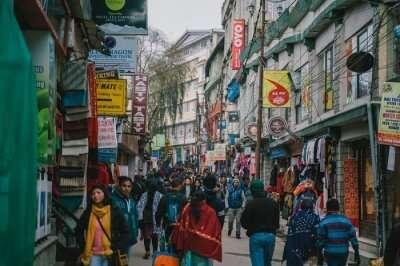 people walking in the market