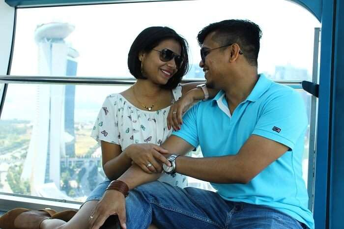 visiting Singapore Flyer