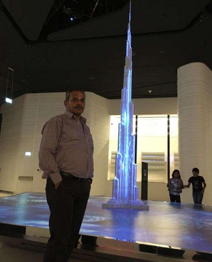witnessed the tiny demo of Burj Khalifa