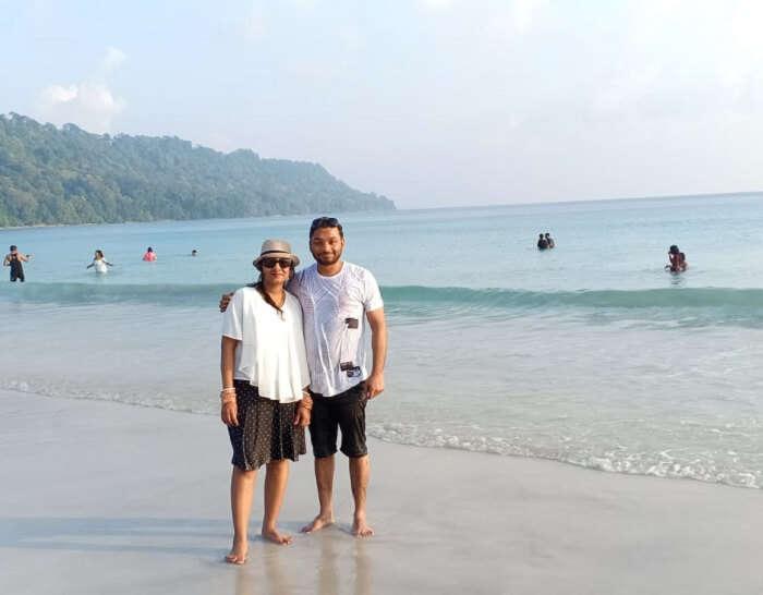 at Radhanagar Beach