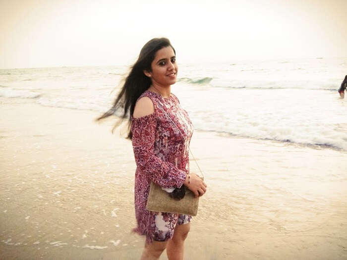at the baga beach