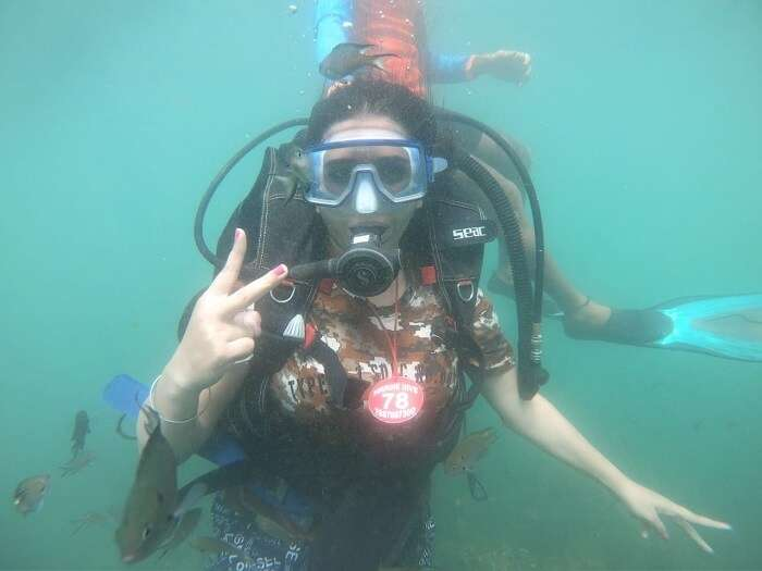 experiencing the scuba diving