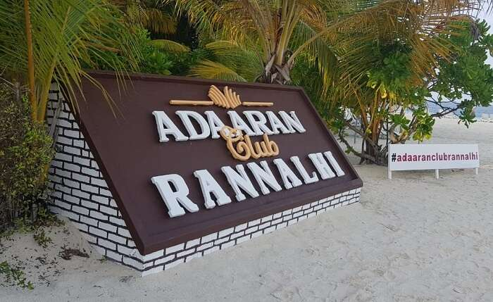 arrived at our resort named Adaaran Club Rannalhi