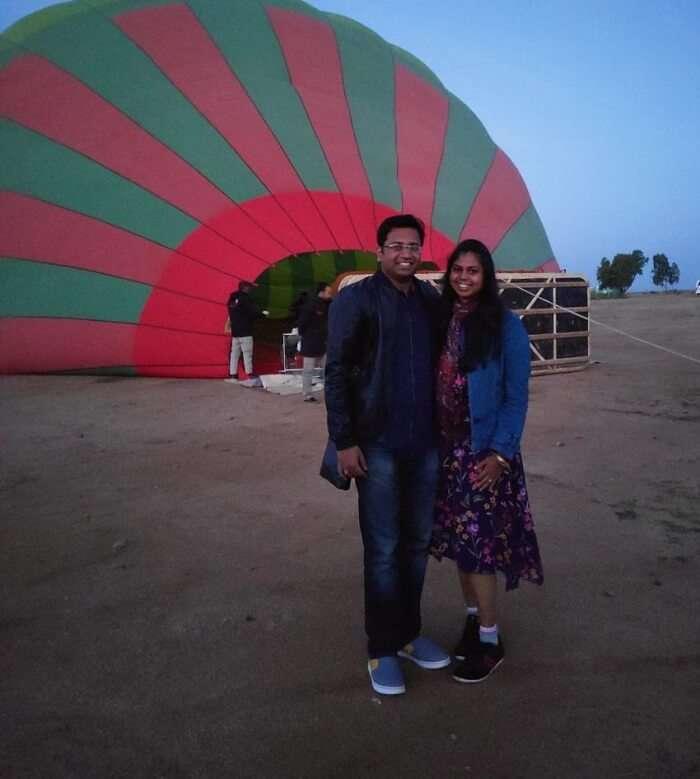 the hot air balloon ride