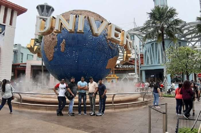 at the Universal Studio