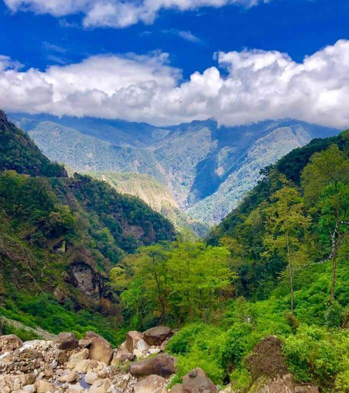 Splendid view of valley