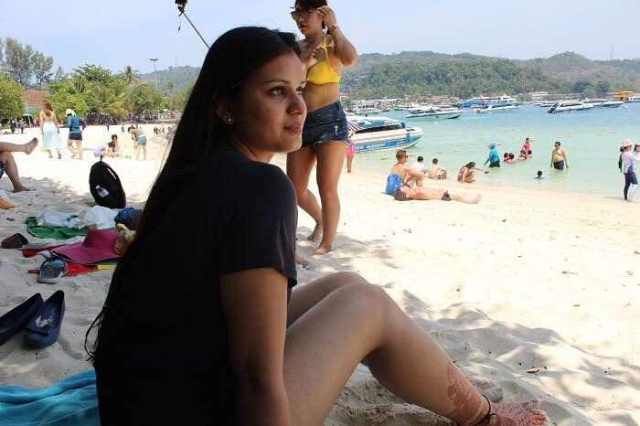 having the beachy vibes