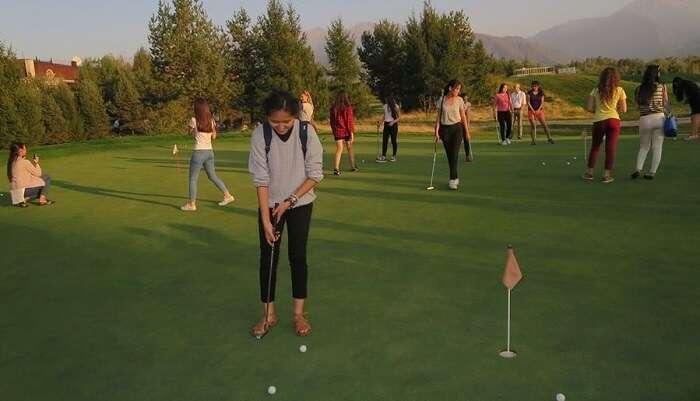 Golf Open In Kazakhstan
