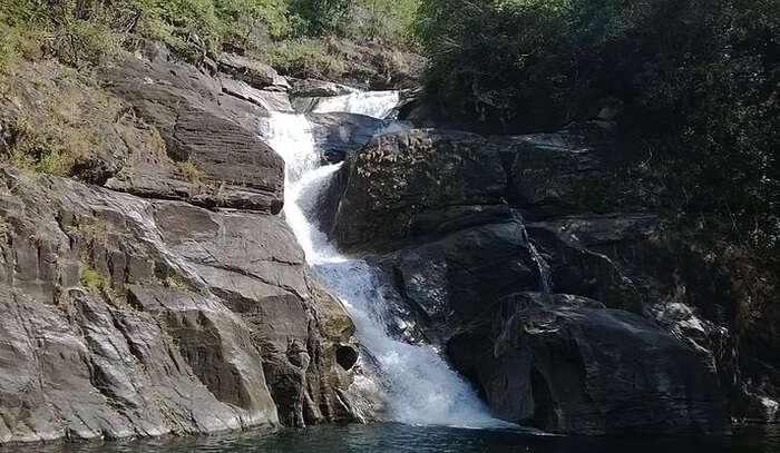 Meenmutty Falls In Wayanad