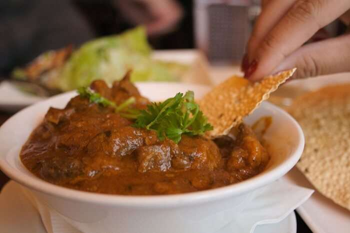 Aromatic lamb curry