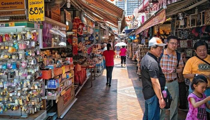 Shopping At Chinatown Street Market