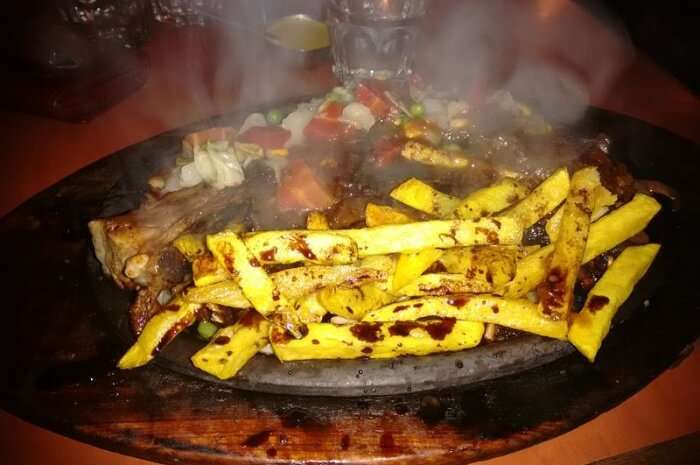 Hot sizzling western cuisine