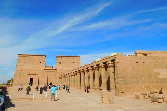 Egyptian architecture and mysticism in abundance