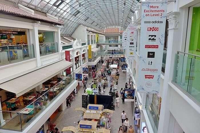 Shopping at Bugis Junction
