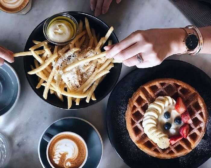 fries and waffles