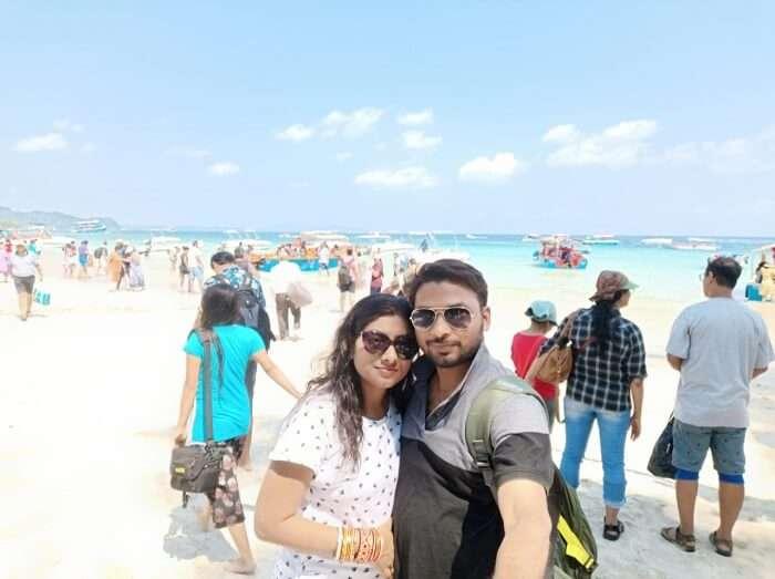 lovely moments at Radhanagar beach