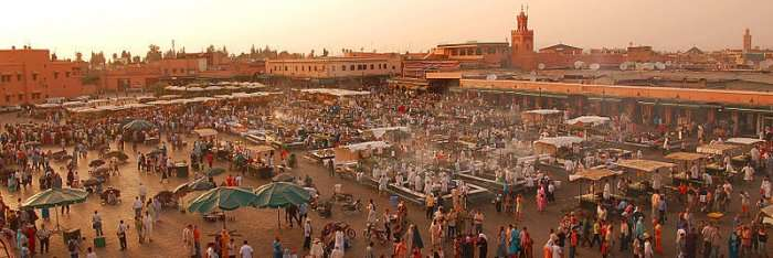 traditional market in Marrakech