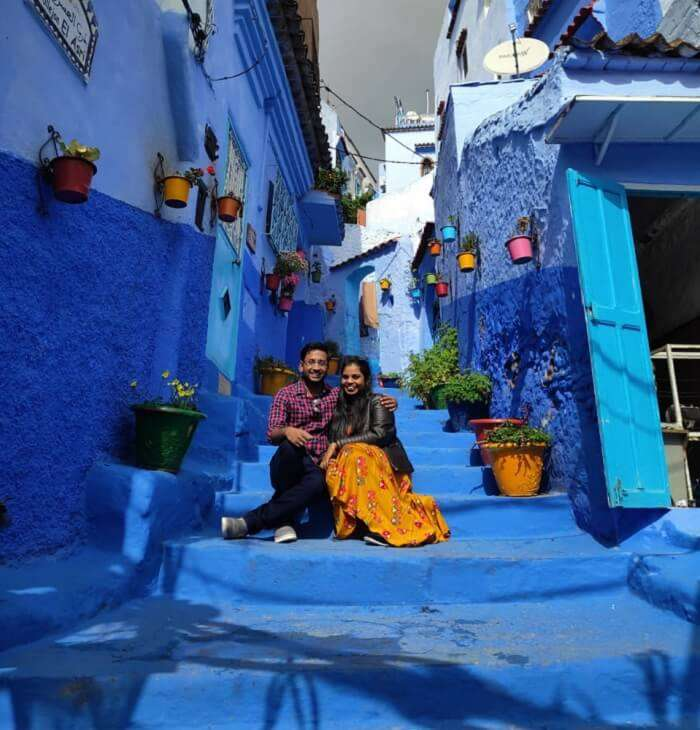 the famous blue bylanes in chefchaouen