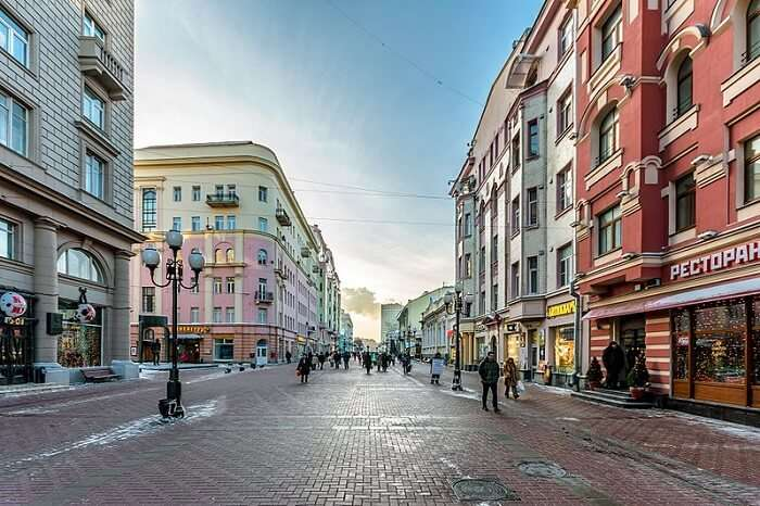 Arbat Street in Moscow