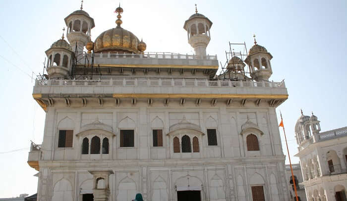 Architecture Of Akal Takht In Amritsar