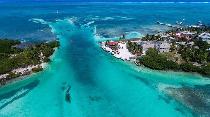 belize aerial shot