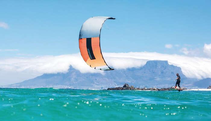 Kitesurfing at Bulabog Beach