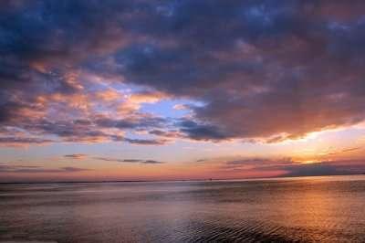 beautiful sunset in Manila
