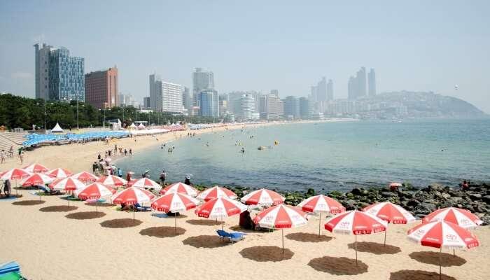 Haeundae Beach In Busan