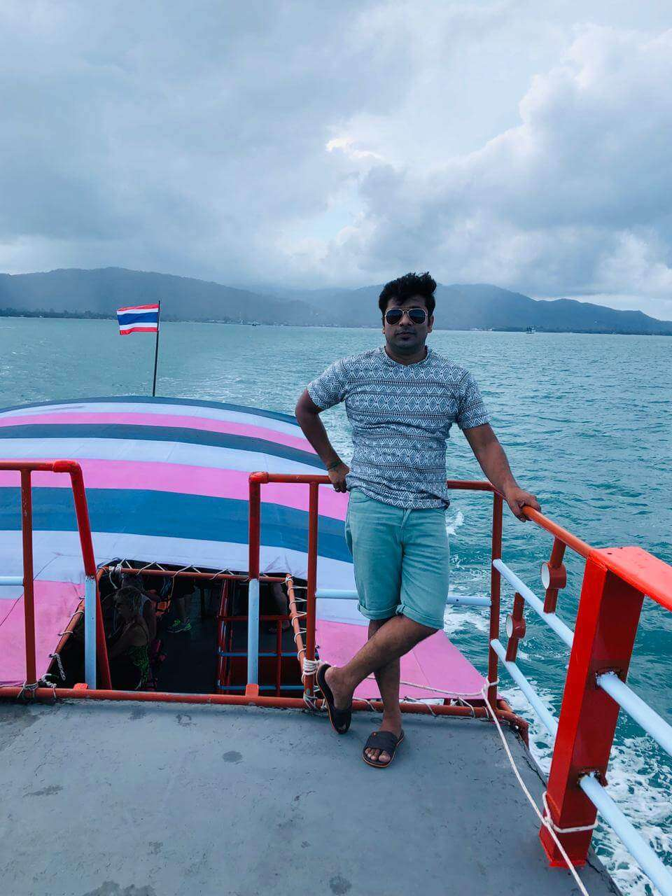 cruising along the islands