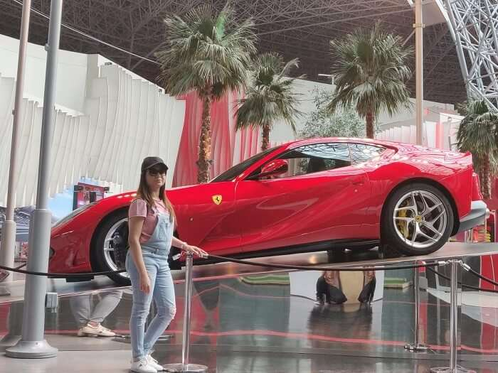 at the ferrari world