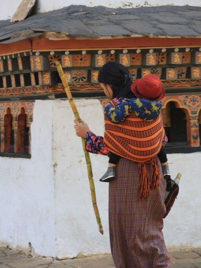 captured some daily locals of Bhutan