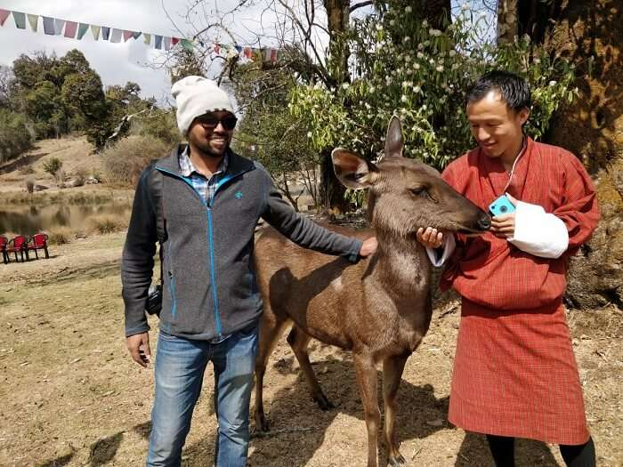 with local nomads in Bhutan