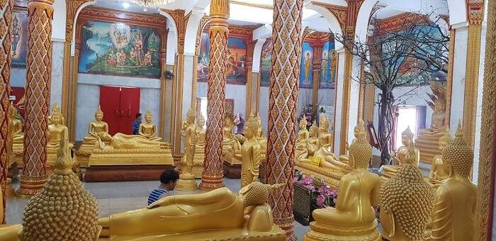 Gold statues of Lord Buddha